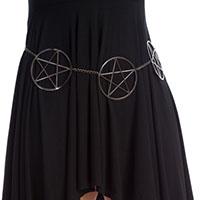 Poison Flower Chain Pentagram Belt by Banned Apparel
