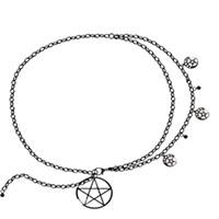 Bright Belladonna Chain Pentagram Belt by Banned Apparel