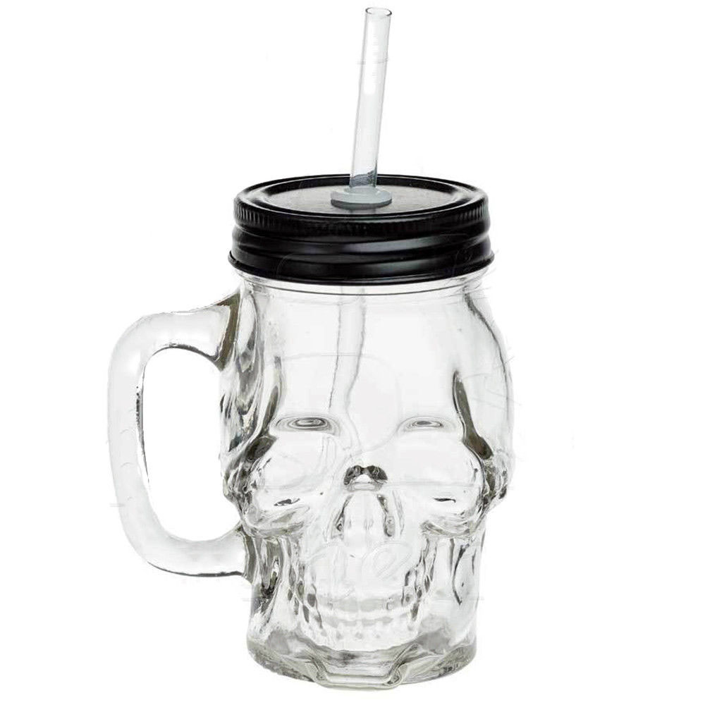 Alchemy England Glass Skull Drinking Jar