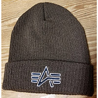 Alpha Industries- Knit Logo Cuffed Beanie (Sale price!)