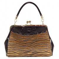 Crazy Little Tiger 50's Kisslock Bag by Banned Apparel
