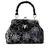 Killian Spider Handbag by Banned Apparel - in black