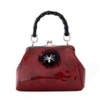 Killian Spider Handbag by Banned Apparel - in red