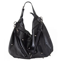 Nanael Spiked Slouch Bag by Banned Apparel