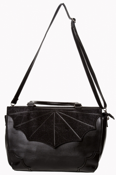 Black Widow Bat Wing Bag by Banned Apparel