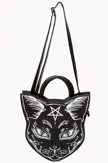 Nemesis Cat Head Bag by Banned Apparel