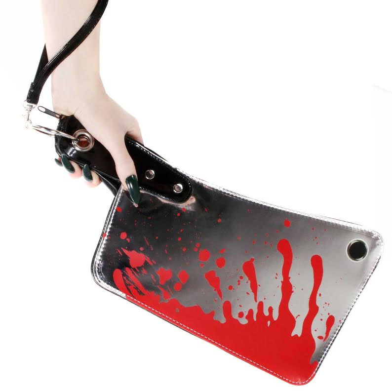 Metallic Bloody Cleaver vinyl bag by Kreepsville 666