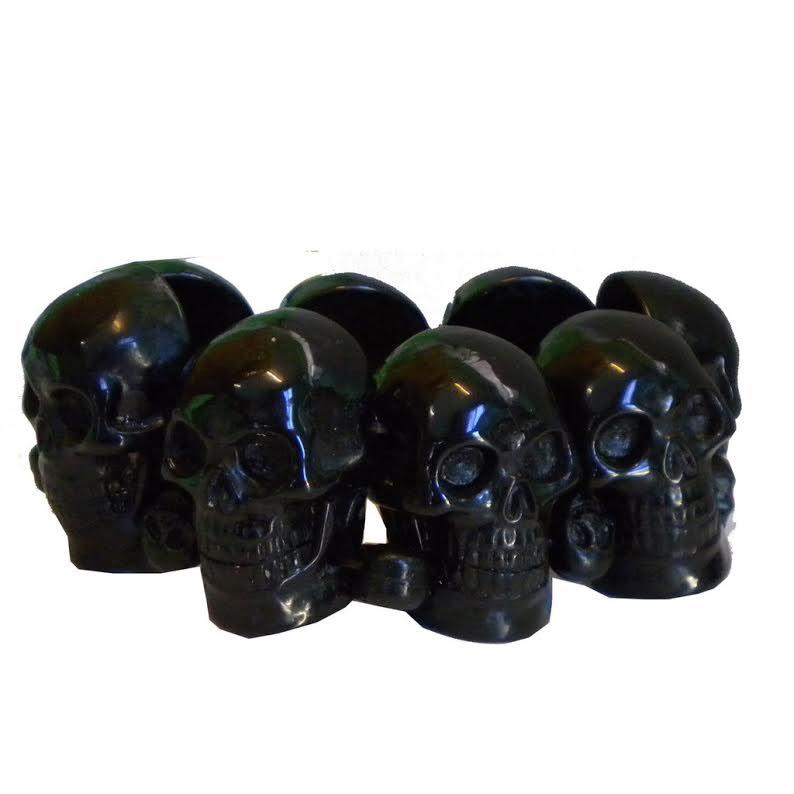 Skull Collection Bracelet by Kreepsville 666 - Black