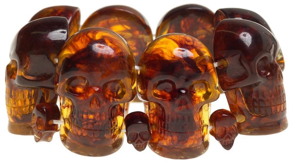 Skull Collection Bracelet by Kreepsville 666 - Amber