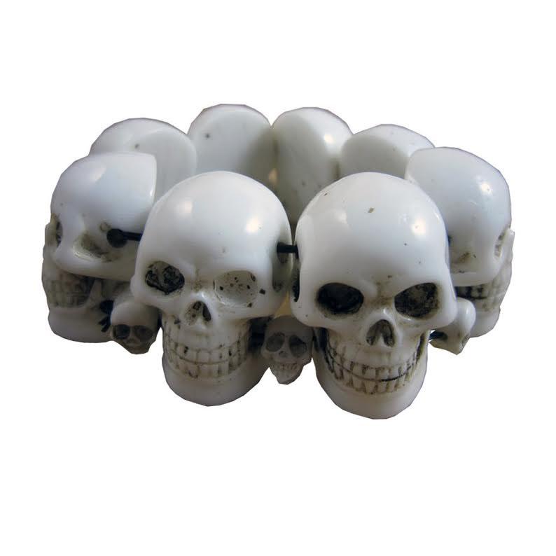 Skull Collection Bracelet by Kreepsville 666 - White