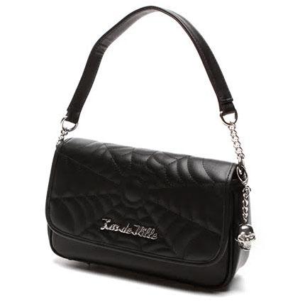 Black Widow Small Tote Bag by Lux De Ville - Black Matte