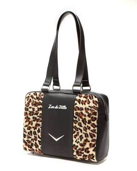 Carry All Tote by Lux De Ville - Black Matte & Leopard