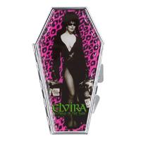 Elvira Coffin Leopard Luggage Compact / Mirror by Kreepsville 666