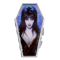 Elvira Coffin Portrait Blue Compact / Mirror by Kreepsville 666