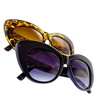 Womens Chic Cat Eye Large Sunglasses (Various Colors)