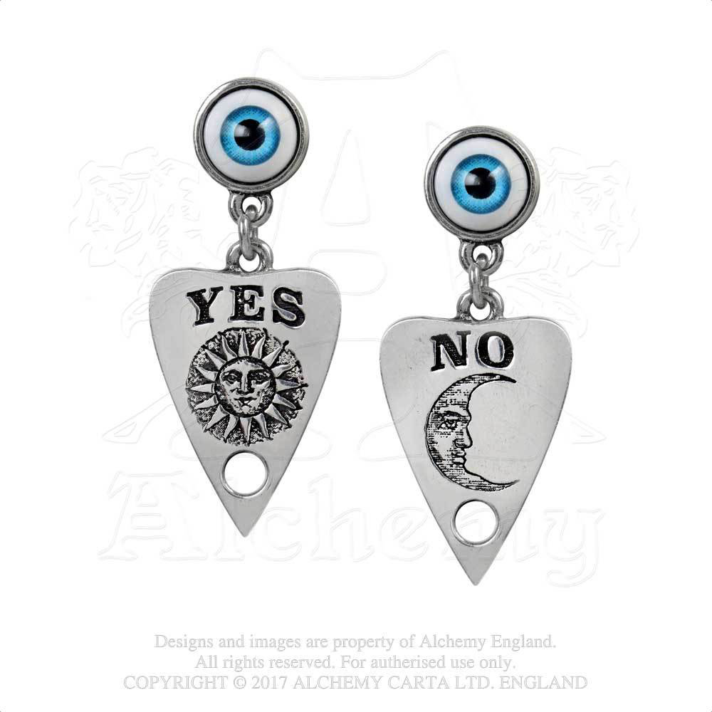 Ouija Planchette Seeing Eye Earrings by Alchemy England 1977
