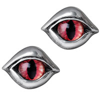 Demon Eye Pewter Stud Earrings -by Alchemy England 1977