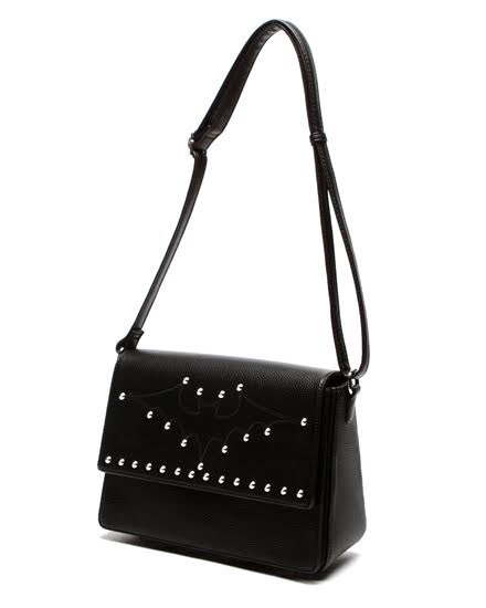 Elvira Matte Studded Bat Bag by Lux De Ville - in Black