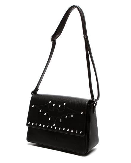 Elvira Matte Studded Bat Bag by Lux De Ville - in Black