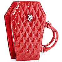 Elvira Coffin Mini Tote by Lux De Ville - Red Venom Sparkle