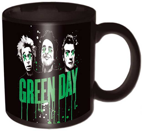 Green Day- Drip Logo & Faces coffee mug