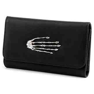 Skeleton Hand Wallet / Clutch by Lux De Ville - Black - SALE