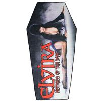 Elvira Classic Red Logo Coffin Beach Towel - from Kreepsville