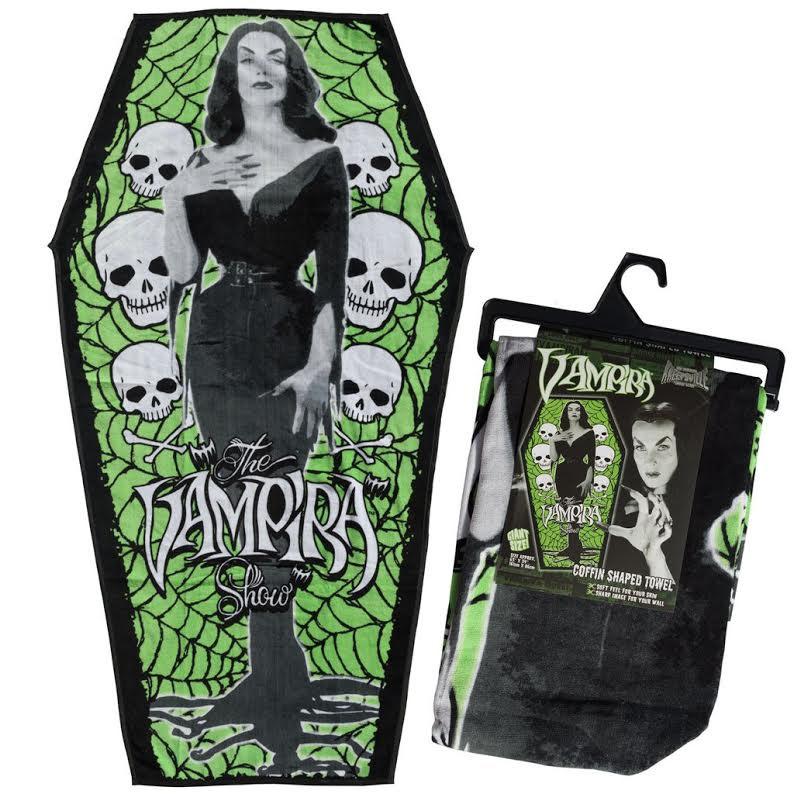 Vampira Coffin Beach Towel - from Kreepsville