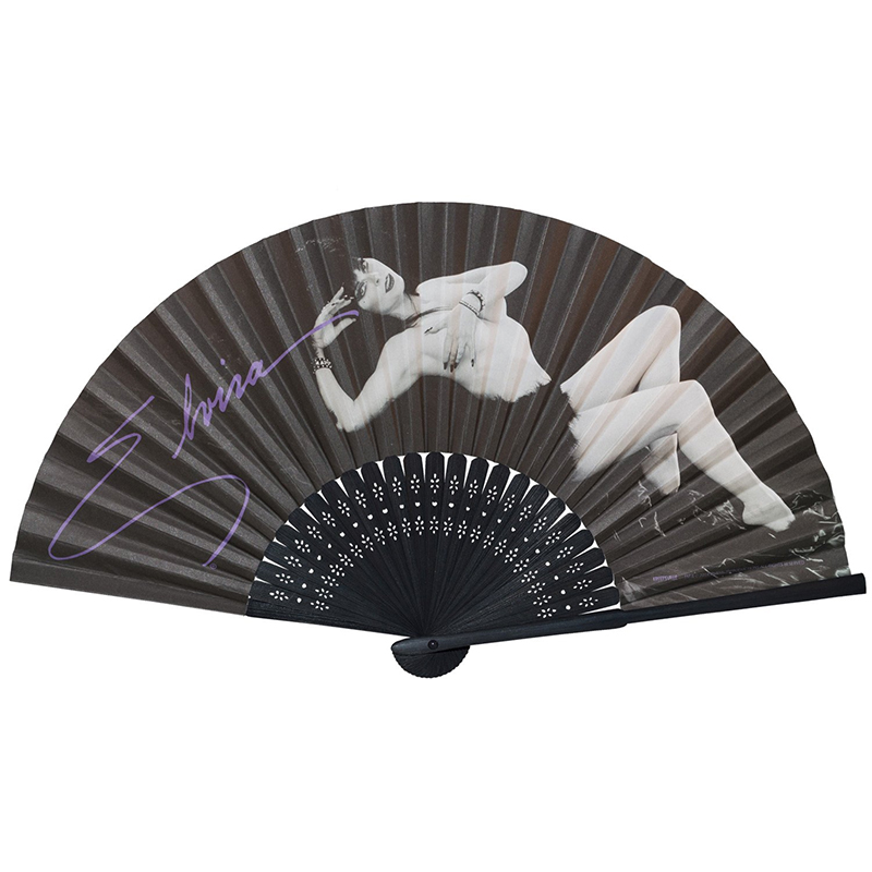 Elvira Laid Bare Hand Fan by Kreepsville 666