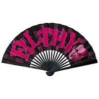 John Waters Filthy Fabric Hand Fan by Kreepsville 666