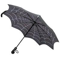 Skull Handle Spiderweb Umbrella by Kreepsville 666