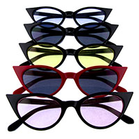 Women's High Point Cat Eye Sunglasses (Various Colored Lenses)