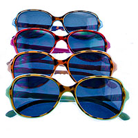 Women's Round Frame Cheetah Print Sunglasses (Various Colors)