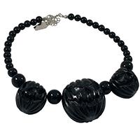 Jack O Lantern Necklace by Kreepsville 666 - Solid Black