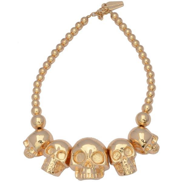 Skull Collection Necklace by Kreepsville 666 - Gold - SALE