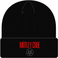 Motley Crue- Logo on a black cuffed beanie