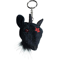 Goathead Baphomet Plush Keychain by Kreepsville 666