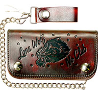 Lone Wolf Wallet by Lucky 13 - Antique Brown