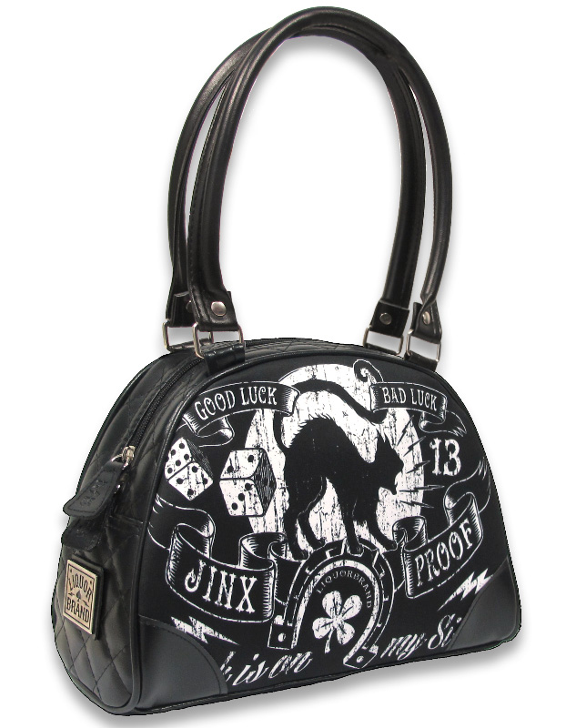 Jinx Proof Black Cat Bowler Purse by LiquorBrand