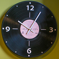 Vintage Recycled LP Wall Clock by Vinylux- Black Sabbath