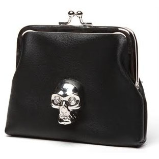 Lady Vamp Kisslock Coin Purse by Lux De Ville - BLACK
