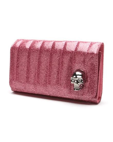 Lady Vamp Wallet by Lux De Ville - Pink Bubbly Sparkle