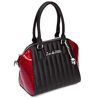 Lady Vamp Tote by Lux De Ville - Crimson Red Sparkle