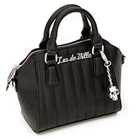 Lady Vamp Mini Tote by Lux De Ville - Black Matte