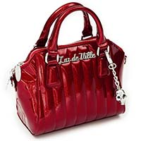 Lady Vamp Tote by Lux De Ville - Rum Red Sparkle