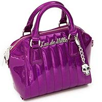 Lady Vamp Mini Tote by Lux De Ville - Electric Purple Sparkle