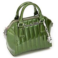 Lady Vamp Mini Tote by Lux De Ville - Martini Green Sparkle