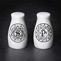 S & P Magic Circles Gothic Salt/Pepper Shakers by Alchemy England