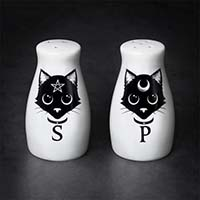 Black Cats Salt/Pepper Shakers by Alchemy England