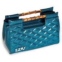 Mai Tai Clutch by Lux De Ville - Sea Sparkle Blue